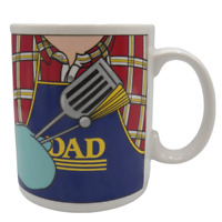Papel Dad Coffee Mug Fathers Day Plaid Shirt Barbecue Grill Cookout Freelance