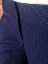 BOSS Hugo Boss Regular-Fit Trousers 'TULIANA 2' Stretch Wool Navy Pinstriped 8
