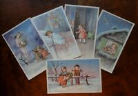 BUON NATALE - Lotto di 5 cartoline anni '50 - Rif. 254 T