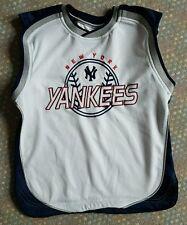 Mayor League Original NY YANKEES Sleevelees Kids Baseball Jersey SMALL S (8-10)