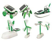 DE - 6 in 1 Solar DIY Educational Kit Toy Boat Fan Car Robot