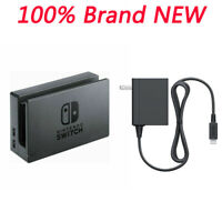 OEM New Switch Dock w/ AC Power Adapter Set For Nintendo switch Black