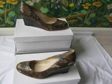 L.K. Bennett Women Real Leather Wedge Pump Shoes Size 10.5M New