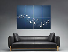 Partition Music Note Musicals Notes Wall Art Poster Grand format A0 Large Print