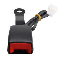 1x Universal Car Front Seat Belt Buckle Socket Plug Kit Safe Warning Cable Black