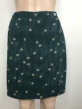CrossCountry Petites Women's Wrap Skirt Sz 2p Delicate Flowers Lined