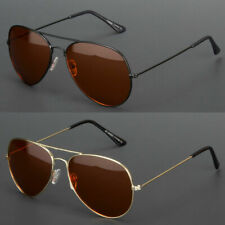 Hd Pilot Sunglasses Driver Night Vision Driving Glasses Amber Lens Anti Glare