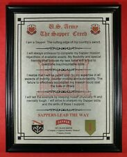 Mc-Nice: Army Sapper Creed All Units Framed Personalized