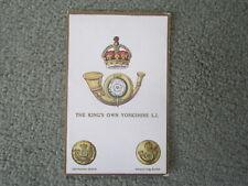 Gale & Polden Regimental Badges 1649. King's Own Yorkshire Light Infantry UNUSED