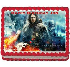 Game of Thrones Jon Snow Birthday party edible cake image cake topper 1/4  sheet