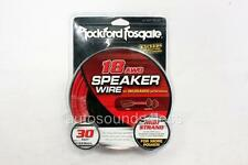 Rockford Fosgate RFWP18-30 18 AWG 30 ft Speaker Wires Subwoofer True Gauge Cable
