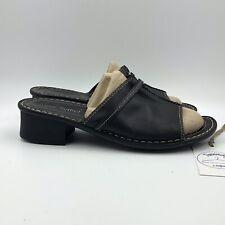 Josef Seibel Women Black Leather Open Toe Slide Shoes EU Sz 41 / US Sz 10 - 10.5