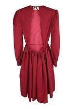 *YVES SAINT LAURENT* 2006 RED BACKLESS COTTON DRESS (42)