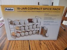 New listing New Polder Compact 5429-05 18 Jar & Spice Rack, 5oz.Glass Jars w/ Custom Labels
