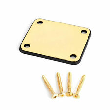 1Set Gold Neck Plate Metal Replacement Part For Fender Strat Electric Guitar New
