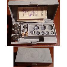 Ancienne URSS Boite de Précision de Poids de Calibrage de 1986