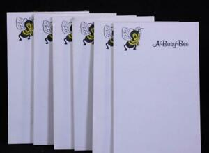 "Six (6) Write-On ""A Busy Bee"" Tablets Notepads."