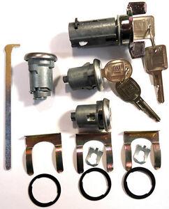 New GM OEM Chrome Ignition/Doors/Trunk Lock Key Cylinder Set With Keys To Match