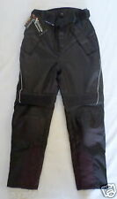 Xelement Motorcycle Racing Pants TriTex Leather Black Size 12 Waist is 31-1/2 in