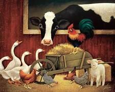 Lowell Herrero All My Friends Farm Animals Print Poster 16×20