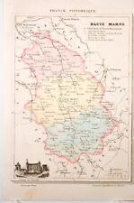 carte départementale de la Haute-Marne, France Pittoresque vers 1850