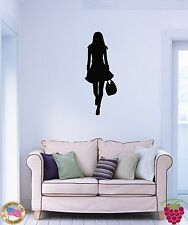 Wall Vinyl Stickers Fashion Girl With Shopping Bag Cool Decor For Girls  z1563