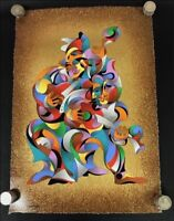 "A. KRASNYANSKY Original Serigraph ""Serenade II"", 25 1/4""x 17"""