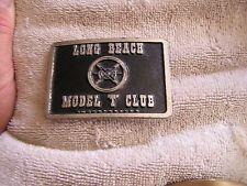 "Vintage Long Beach Model ""T"" Club Belt Buckle"