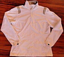 Womens Nike Golf Windproof Half Zip Jacket Storm Fit medium (8-10) white running