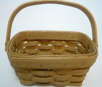 """Small Swinging Handle Longaberger Basket 3.5"""" x 5.5"""" 2004 Signed"""