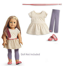 """American Girl MY AG TEE SHIRT TUNIC OUTFIT for 18"""" Dolls Metallic Dress Retired"""