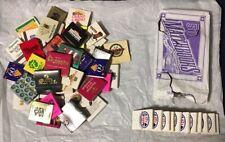 55+ Vintage Matches Matchbook Lot Las Vegas Casinos Souvenir & Old Store Package