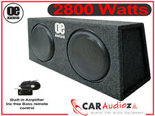 "BMW Convertible Double 12"" Active Slim Shallow bassbox built in Amp 2800 Watts"