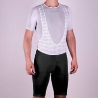RPM Ares Men's Pro / Race Cut Padded Cycling Bib Shorts Made in Italy - Black