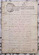 España Perú español colonial notarial contrato manuscrito 1798, Earl Conde