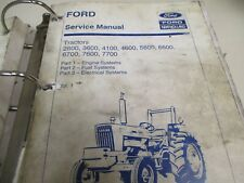Ford 2600 3600 4100 4600 5600 6600 6700 7600 7700 Tractors Service Manual