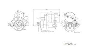 Starter Motor TYC 1-17784