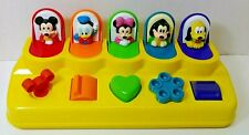 New listing Vintage Yellow Mattel Disney Pop Up Toy Mickey Mouse Friends No 66090
