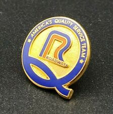 Roadway Americas Quality Service Team Trucking Safety Driving Lapel Pinback