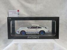 Porsche 911 Carrera RS 2.7 1973 White w/blue stripes 1:18 AUTOart
