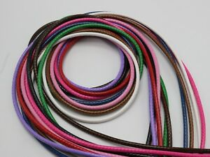 10 Meters Mixed Color Korean Waxed Cord String Thread 3mm for Bracelet Necklace