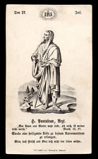 santino incisione 1800 S.PANTALEONE MEDICO M.