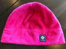 Girls Plush Columbia Beany Hat Pink