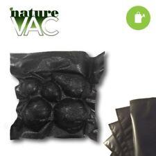 NatureVAC 11 in.x24 in. Precut Vacuum Seal Bags ALL BLACK - FULL CASE (500 pcs)