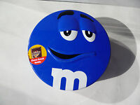 M&M's empty tin box candy blue smile scratches used rare