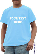 """PERSONALISED CHILDRENS GIFT """"ADD YOUR OWN TEXT"""" TO T-SHIRT Ages 1-13 Available"""