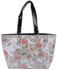 Cute Retro Flower Fiori 50s Shopper Borsa-Verde chiaro Rockabilly
