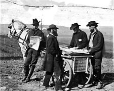 New 8x10 Civil War Photo: Newspaper Vendor with Cart in Union Camp