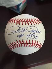 Pete Rose With #4256 Autographed/Signed ONL Baseball
