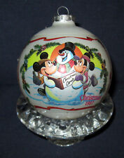 New listing Vintage Mickey & Minnie Mouse Glass Ornament